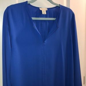 Perfect condition bold blue long-sleeve tunic